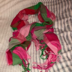 Accessories - Pink and green scarf